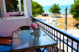A balcony or terrace at Thasos Blue Apartments