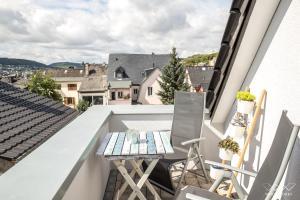Ein Balkon oder eine Terrasse in der Unterkunft TeigenHeim