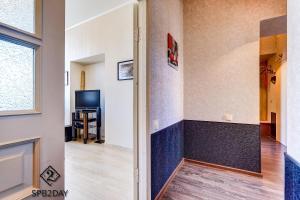Телевизор и/или развлекательный центр в Apartment on Efimova 1-1