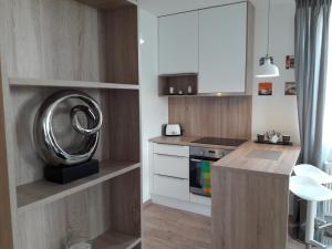 A kitchen or kitchenette at Apollis Apartmán