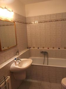 A bathroom at Blanca Apartman