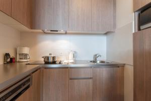 A kitchen or kitchenette at Résidence Pierre & Vacances Atria-Crozats