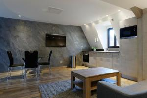 A seating area at The One Apartments