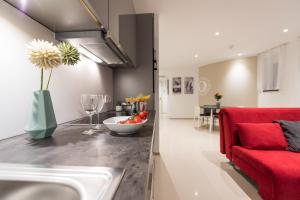 Ein Sitzbereich in der Unterkunft Friedrich Boutique-Apartments