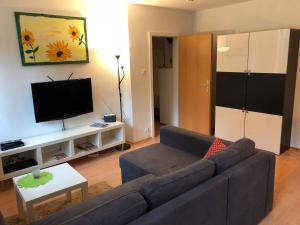 A television and/or entertainment center at Apartment Essen-Rüttenscheid