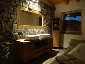 A bathroom at Chalet France