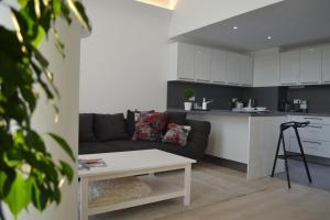 A kitchen or kitchenette at Eurovea Apartments