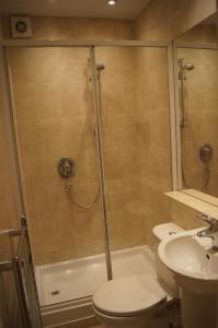 A bathroom at Entire traditional Glasgow west end flat