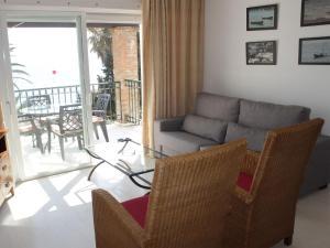 A seating area at Hacienda Beach