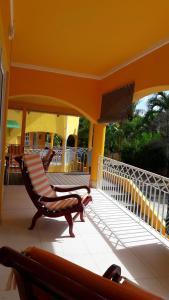 A balcony or terrace at Beau Vallon Residence