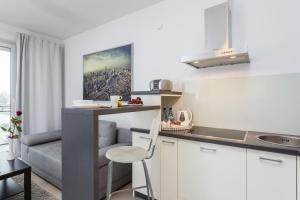 A kitchen or kitchenette at Apartament Premium E&E