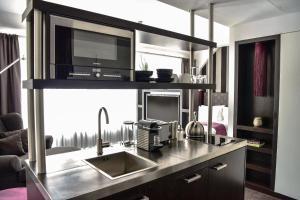 Küche/Küchenzeile in der Unterkunft Goodman's Living
