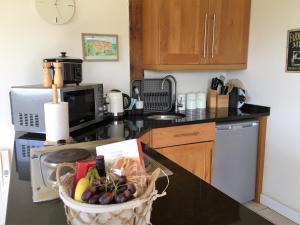 Küche/Küchenzeile in der Unterkunft Oak Lodge