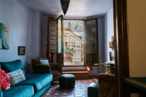 A seating area at Casa Franci