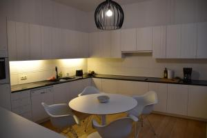 A kitchen or kitchenette at Spacious Duplex App. Centre Bruges