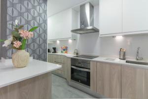 Virtuvė arba virtuvėlė apgyvendinimo įstaigoje Gran Vía Princesa Apartment