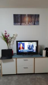 A television and/or entertainment center at BeRelax