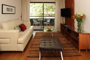 A seating area at Time Apartment