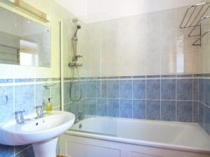 A bathroom at Linhay Cottage