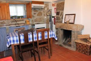 Área de jantar na casa de férias