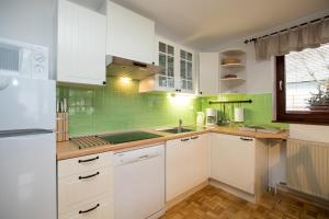 A kitchen or kitchenette at Apartments Markež