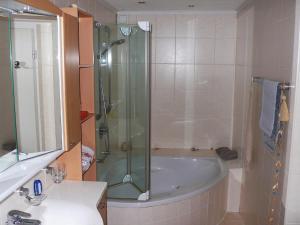 Ein Badezimmer in der Unterkunft Apartment Waldeiche-Rheinblick