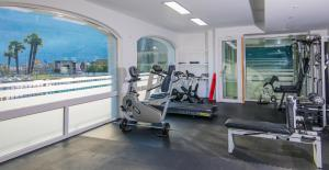 The fitness center and/or fitness facilities at Yachting Residence