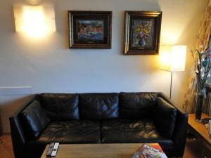 A seating area at Panorama Studio Apartment