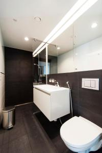 A bathroom at Aalto Inn