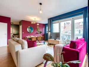 Coin salon dans l'établissement Sweet Inn Apartments-EU Parliament