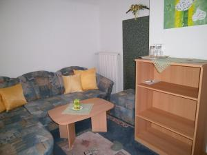 Ein Sitzbereich in der Unterkunft Haus Anika Ferienwohnung