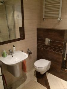 Ein Badezimmer in der Unterkunft Młynarska