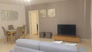 A television and/or entertainment center at Forum Apartment View
