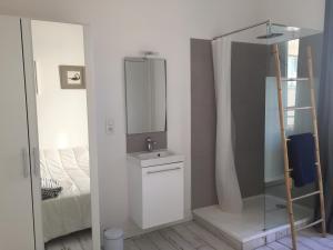 Salle de bains dans l'établissement appartement au coeur de Nice