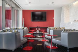 Lounge oder Bar in der Unterkunft Oakwood at the Residences at W New York Downtown