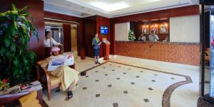 The lobby or reception area at Vision Hotel Apartments Deluxe