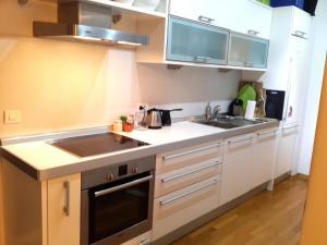 Kuhinja oz. manjša kuhinja v nastanitvi LUX App Centre south