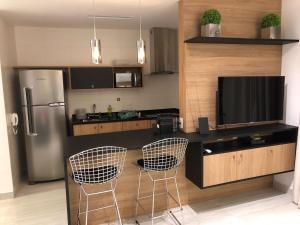 A kitchen or kitchenette at Loft Moderno Berrini