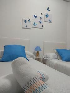 Cama o camas de una habitación en Apartamento Ezkubenea
