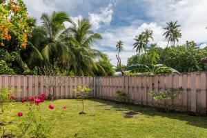A garden outside Moemoea Lodge