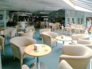 The lounge or bar area at Acorns