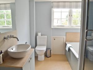 A bathroom at North House
