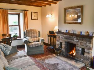 A seating area at Swaledale Cottage