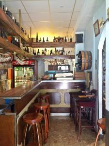 The lounge or bar area at Apartments Stomorska