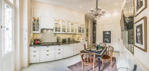 A kitchen or kitchenette at VIP Residence Danubius