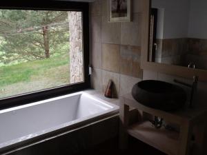 A bathroom at Uroczysko Jar Brynicy