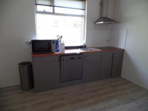 A kitchen or kitchenette at Gastenverblijf Ikorna