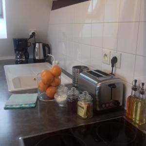 Dapur atau dapur kecil di Villa Louise