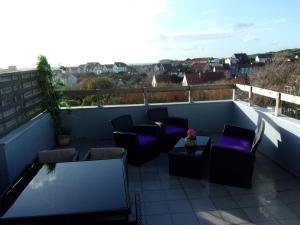 Balcon ou terrasse dans l'établissement Les Toiles de Mer