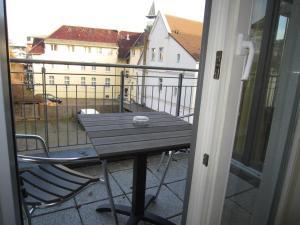 A balcony or terrace at Haus Strandperle